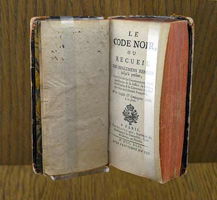 LE CODE NOIR 1685 EBOOK