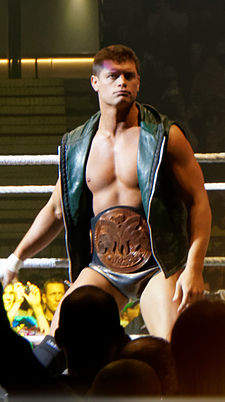 Cody Rhodes as WWE Tag Team Champion in 2013