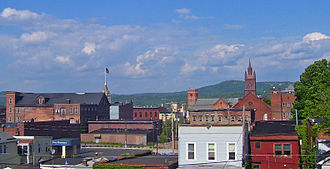 Cohoes, New York - Downtown seen from the west