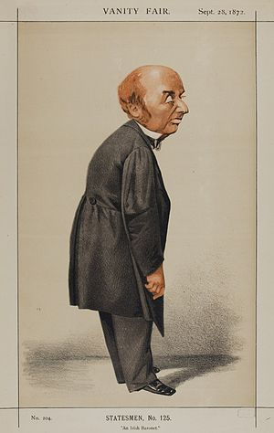 "Colman O'Loghlen - ""An Irish Baronet"" Sir Colman as caricatured by Adriano Cecioni in Vanity Fair, September 1872"
