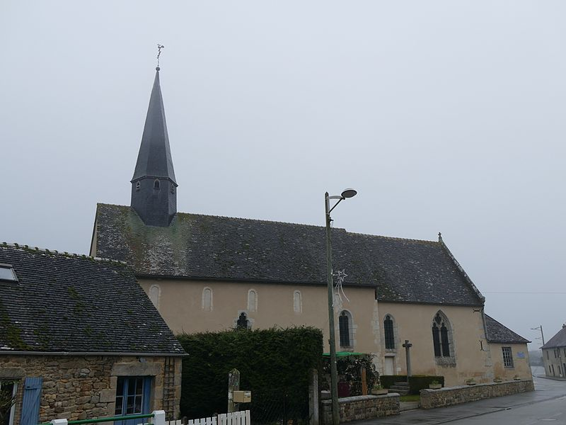 Saint-Rigomer's church in Colombiers (Orne, Normandie, France).