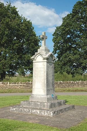 Combe, Oxfordshire - War memorial on the village green