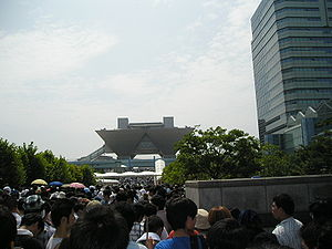 The line up to a Comiket convention.