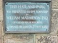Commemorative plaque, Horsforth Hall Park - geograph.org.uk - 430386.jpg