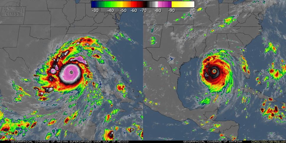 Comparison between Haiyan and Katrina