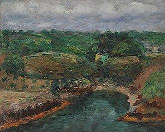 Constantin Kousnetzoff - The River Bélon at  Kerfany-les-Pins