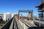 Construction of Airport Hotel AirTrain station (1), August 2018.JPG