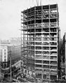 Construction of the seventeenth floor at the Smith Tower construction site, Seattle, Washington, December 28, 1912 (SEATTLE 4903).jpg
