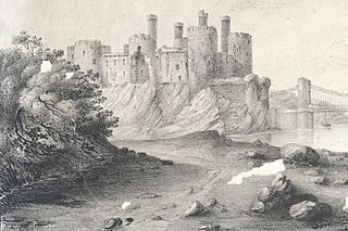 Conway Castle & Br.(Title and print are incomplete)