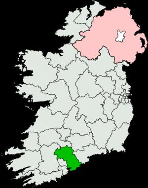 Cork East (Dáil Éireann constituency) - Image: Cork East (Dáil Éireann constituency)