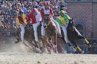 Palio di Legnano - Horse race of Palio 2014