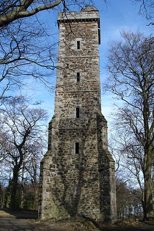 Corstorphine Hill - Corstorphine Hill Tower, a memorial to Sir Walter Scott