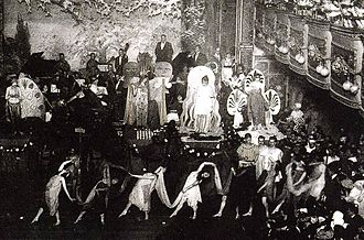 Webster Hall - A costume ball in the Grand Ballroom of Webster Hall (date unknown)