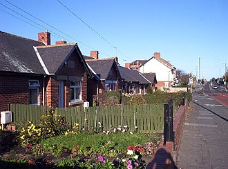 Shiremoor - Image: Cottages in Shiremoor geograph.org.uk 78014