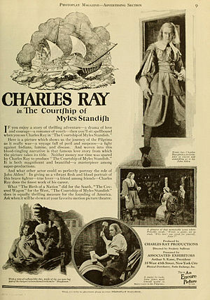 The Courtship of Miles Standish (1923 film) - Contemporary magazine advertisement