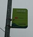 Cowes Broadfields Avenue bus stop flag.JPG