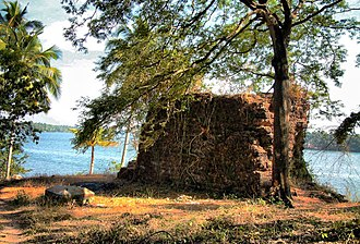Kodungallur - Relics of the Cranganore Fort built by the Portuguese on the shores of the Kottapuram River