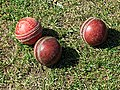 Cricket balls at Church Times Cricket Cup final 2019 2.jpg