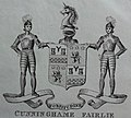 Cunninghame Fairlie of Robertland coat of arms and supporters. George Robertson 1825.jpg