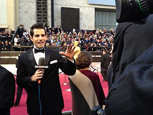 Chris Van Vliet - Van Vliet reporting from the red carpet at the 84th Academy Awards, 2012
