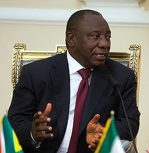 Deputy President of South Africa - Image: Cyril Ramaphosa in Tehran