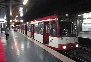 Düsseldorf Stadtbahn - U78 tram at Düsseldorf Central Station