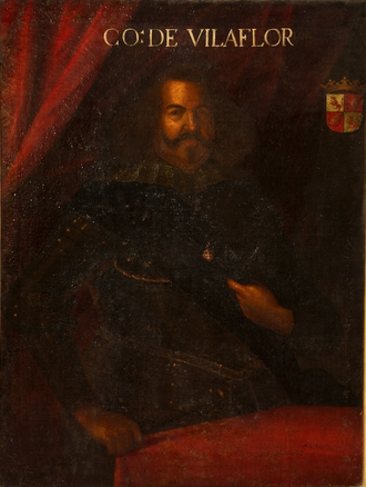 Battle of Ameixial - D. Sancho Manuel, commander of the Portuguese Army in the battle, portrayed in 1673-5 by Feliciano de Almeida (Galleria degli Uffizi, Florence)