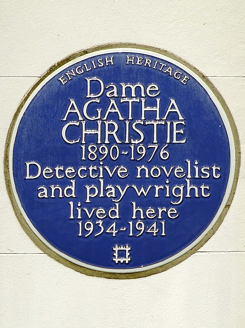 Dame agatha christie 1890 1976 detective novelist and playwright lived here 1934 1941