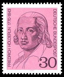 30-Pf-Sondermarke der Deutschen Bundespost (1970) zum 200. Geburtstag Friedrich Hölderlins (Quelle: Wikimedia)