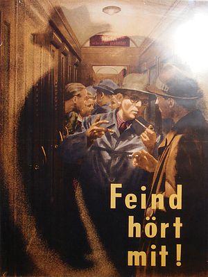 Rudolf Bamler - Operations security propaganda poster