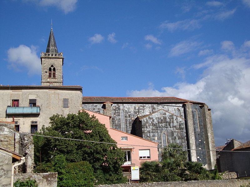 Hérépian (Hérault, Fr) - église Saint-Martial, vue latérale.