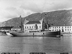 SS Sirius (1885) - Sirius docked in Bergen, c. 1890
