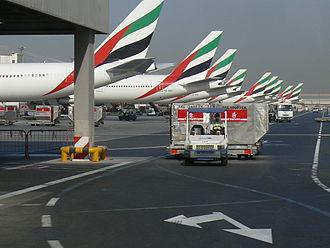 Flag of the United Arab Emirates - Emirates airlines planes with the UAE flag on them