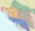 Dalmatia Croatia Slavonia Bosnia 1720 Matthaeus Seuteri.png