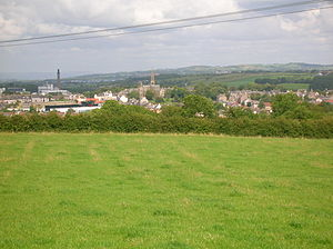 Dalry, North Ayrshire - Dalry from Lynncraigs Hill.