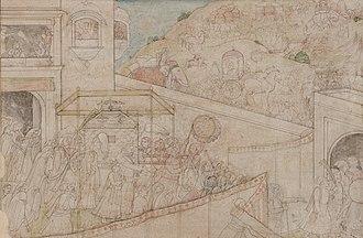 Nishada Kingdom - Damayanti leaving for Nishadha, after her wedding to Nala, Mahabharata