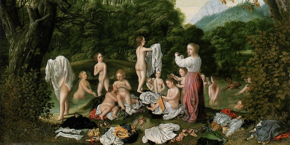 Damen-baden-im-Fluss-1640