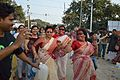 Dancing Devotees - Durga Idol Immersion Ceremony - Baja Kadamtala Ghat - Kolkata 2012-10-24 1689.JPG