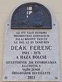Deák Ferenc emléktábla (Farkas Ferenc, 2013), Premontrei rendház, Keszthely, 2016 Hungary.jpg