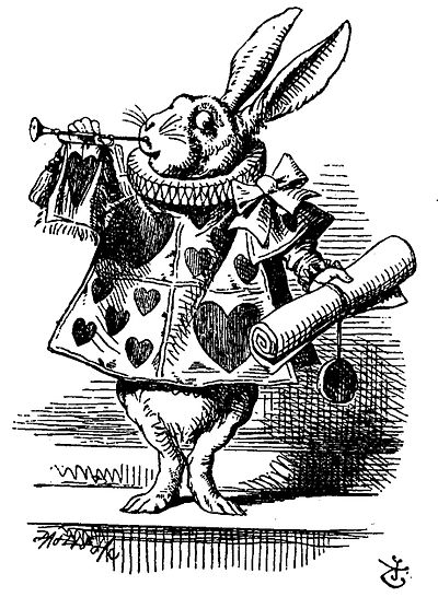 TENNIEL John The White Rabbit, 1865