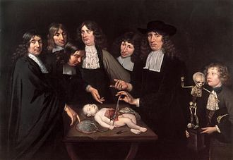 Frederik Ruysch - The Anatomy Lesson of Dr. Frederick Ruysch by Jan van Neck (1683). Amsterdam Museum.