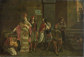 The Last Defenders of Mesolóngion, 22 April 1826, episode from the Greek War of Independence