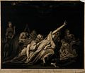 Death looms above a group of people inflicted with various p Wellcome V0017104.jpg