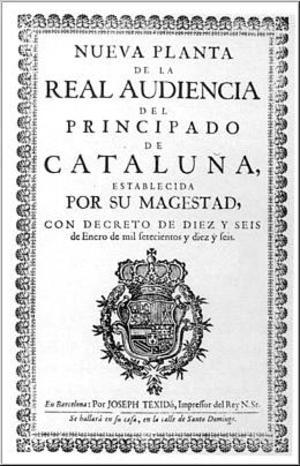 History of Catalan - Image: Decret Nova Planta