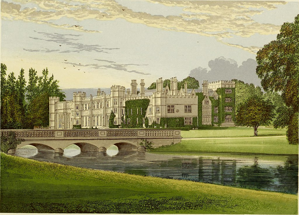 Deene Park, from, A series of picturesque views of seats of the noblemen and gentlemen of Great Britain and Ireland (1840)
