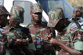 Military of Burkina Faso - Soldiers from Burkina Faso before deployment to an exercise in Mali (2010)