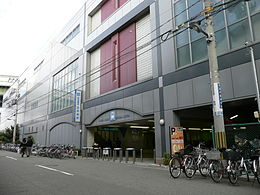 Dekijima Station west entrance.jpg