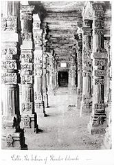 Delhi, The Interior of Hindoo Colonade LACMA M.90.24.21.jpg