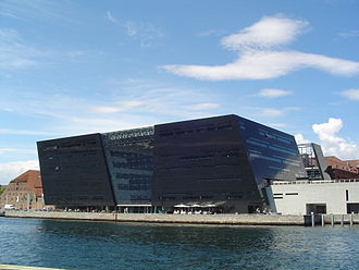 Royal Library, Denmark - The Black Diamond building, viewed from the southeast