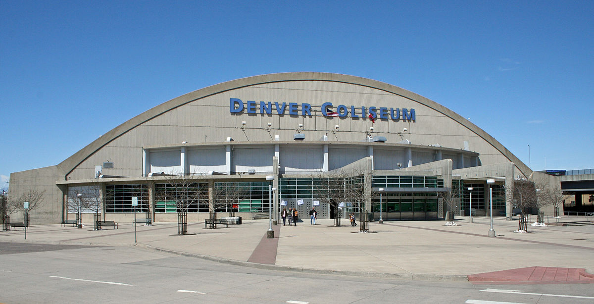 free shipping 1cd4b 8d467 Denver Coliseum - Wikipedia